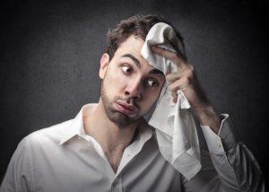suor cabeça botox tratamento