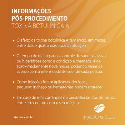 Informações Pós-Procedimento – Toxina Botulínica A